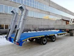 Чмзап 8358. Прицеп-платформа (прицепной трал) Чмзап-8358 (10-15 тонн), 9 500кг. Под заказ
