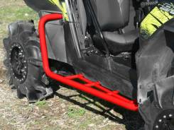 Пороги для Polaris RZR 900 2011-2014 красные USA