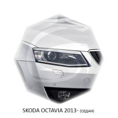 Реснички (накладки) на фары Skoda Octavia A7 2013-2016г