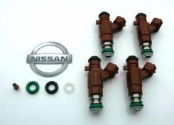 Комплект 4шт, Форсунка/Инжектор Nissan 16600-5L300, (Оригинал) видео
