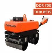 Samsan. Ручной двухвальцовый дорожный каток, поворотный валец DDR 851SD