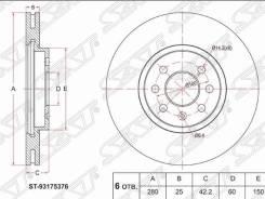 Диск тормозной перед OPEL Astra G / H / Corsa C / Zafira A / B