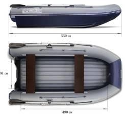 Лодка надувная Водометная ПВХ Флагман DK550 JET, НДНД, С Тоннелем Новая