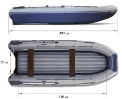 Лодка надувная ПВХ Флагман DK 390 IGLA, НДНД, Новая