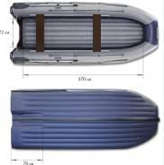 Лодка надувная Водометная ПВХ Флагман DK430 IGLA, НДНД, с Тоннелем