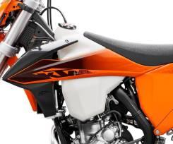 Боковины бака КТМ 2020 черно-оранжевые