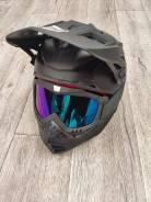 Мотошлем кросс детский с очками для детей от 3х лет