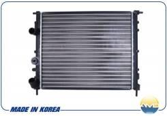 Радиатор охлаждения двигателя. Renault: Megane, Kangoo, Logan, Scenic, Clio Лада Ларгус, F90, R90 E7J, K4J, K4M, K7M, D4F, D7D, D7F, K7J, K9K, BAZ1118...
