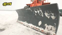 Отвал снежный на экскаватор погрузчик John Deere Джон Дир