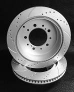 Перфорированные тормозные диски с насечками 348 мм.