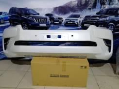 Toyota Prado 150 бампер белый 17-20 г