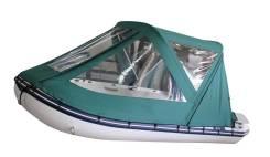 Тент ходовой (тент-трансформер) с дугами для лодок 320 см, зелёный