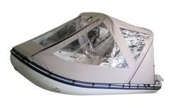 Тент ходовой (тент-трансформер) с дугами для лодок 320 см, серый