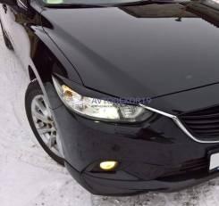 Реснички накладки на фары Mazda 6 (Мазда 6) GJ 2012-2018г