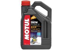 Масло снегоходное Motul 4T Snowpower 0w-40 4L