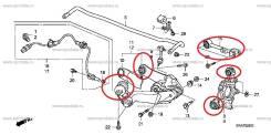 Комплект сайлентблоков 8шт + 2 регулируемые тяги Honda CR-V RE рычаги