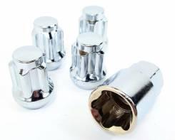 Гайки секретные 4шт с ключом. M12x1.25 и M12x1.5