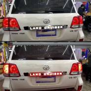 Накладка на 5ю дверь диодная для Toyota Land Cruiser 200 (2008-15г)