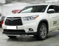 Защита переднего бампера Toyota Highlander 2014-2016 одинарная d-60