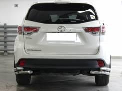 """Защита заднего бампера """"уголки"""" Toyota Highlander 2014-2020 №2 d-60+53"""