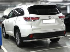 Защита заднего бампера Toyota Highlander 2014-2020 полноразмерная d-60