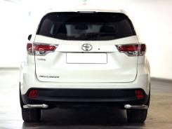 """Защита заднего бампера """"уголки"""" Toyota Highlander 2014-2020 d-60"""