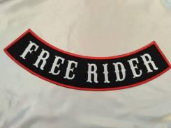 Байкерская нашивка Free rider, большой размер, Япония