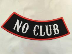 Байкерская нашивка No club, размер больше среднего, Япония