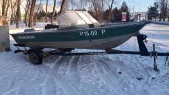 Tracker. 2000 год, длина 5,00м., двигатель подвесной, 90,00л.с., бензин