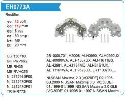 Диодный мост генератора. Infiniti I30, A32 Nissan: Caravan, Maxima, Tino, Cefiro, Homy, Almera VQ30DE, VG30E, QG18DE, SR20DE, YD22DDTI, VQ25DE, K9K, Q...