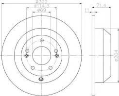 Диск Тормозной Задн. Hyundai: Santa Fe Ii/Iii 2.0crdi/2.2crdi/2.4 09-, Kia: Sorento Ii 2.0-2.4 09- PATRON арт. PBD1732
