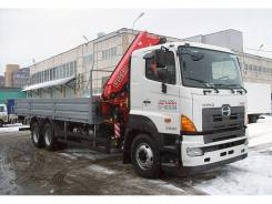 Hino FS. Бортовой автомобиль Hino 700 FS с КМУ Fassi F245, 6x4
