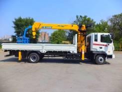 Услуги Бортовой грузовик с манипулятором Hyundai MEGA TRUK 8тн