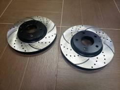 Передние тормозные перфорированные диски на Камри 40, 50