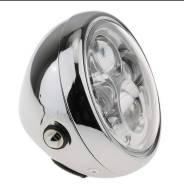 Фара SBW LED для мотоцикла, универсальная, хром