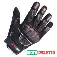 Мотоперчатки Motocycletto Netto Черный, Текстиль iPhone Touch