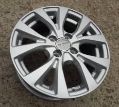 Новые литые диски K&K КС685 на Kia Rio, Hyundai Solaris R15