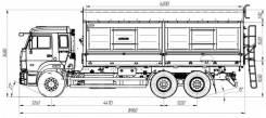 КамАЗ 65115. Продается зерновоз сельхозник на шасси камаз 65115, 12 000куб. см., 20 000кг., 6x4