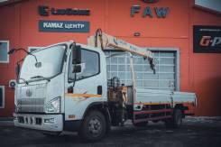 FAW. Бортовой грузовик c КМУ XCMG SQS68-3, 4 087куб. см., 3 640кг., 4x2. Под заказ