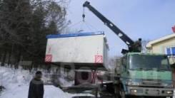 Услуги грузовика с краном. Перевозка контейнеров . вагончиков. не габарит
