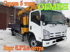 Isuzu Forward. Самогруз , 2012 г. в. стрела 5 тонн, 7 000 кг., 4x2