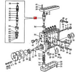 Плунжерная пара Yanmar 726634-51600 ДВС 6HAL-DT(A01)