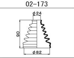 Пыльник ШРУСа наружный Toyota Fielder 06-12 / Premio / Allion ZRT260