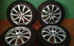 "Комплект колес 225/55/18; 5x114,3; 8J с резиной Bridgestone на докатку. 8.0x18"" 5x114.30 ET45 ЦО 73,0мм."