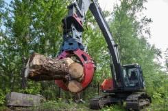 Грейферный лесной захват для бревен на экскаватор Case Кейс