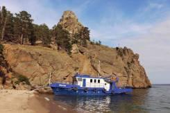 Аренда катера для отдыха на озере Байкал. 12 человек, 13км/ч