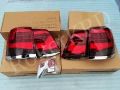 Фонари задние Красно-дымчатые Toyota Land Cruiser 200 07-15