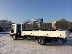 Грузоперевозки, бортовой грузовик с манипулятором 6/3т, грузовое такси