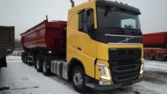 Доставка инертных грузов самосвальными полуприцепами.