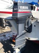 Yamaha. 60,00л.с., 2-тактный, бензиновый, нога X (635 мм), 1996 год